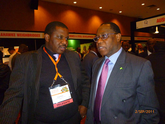 Frank with Dr Olusegun Aganga, Nigeria Minister for Invest & Trade