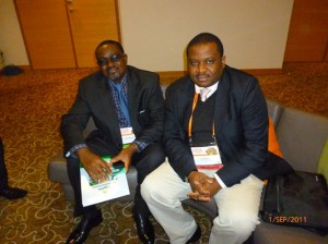 Frank with Hon Musa Sada,Nigeria Minister for Mines & Steel Dev