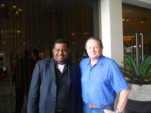 In Nigeria: Frank with Mr Greg Hull, Austrade Senior Trade Comm for Sub-Saharan Africa