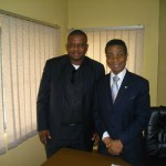 Frank with President of Nigeria Chamber of Commerce Dr H. Ajayi