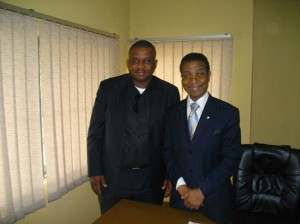In Nigeria: Frank with President of Nigeria Chamber of Commerce Dr H. Ajayi