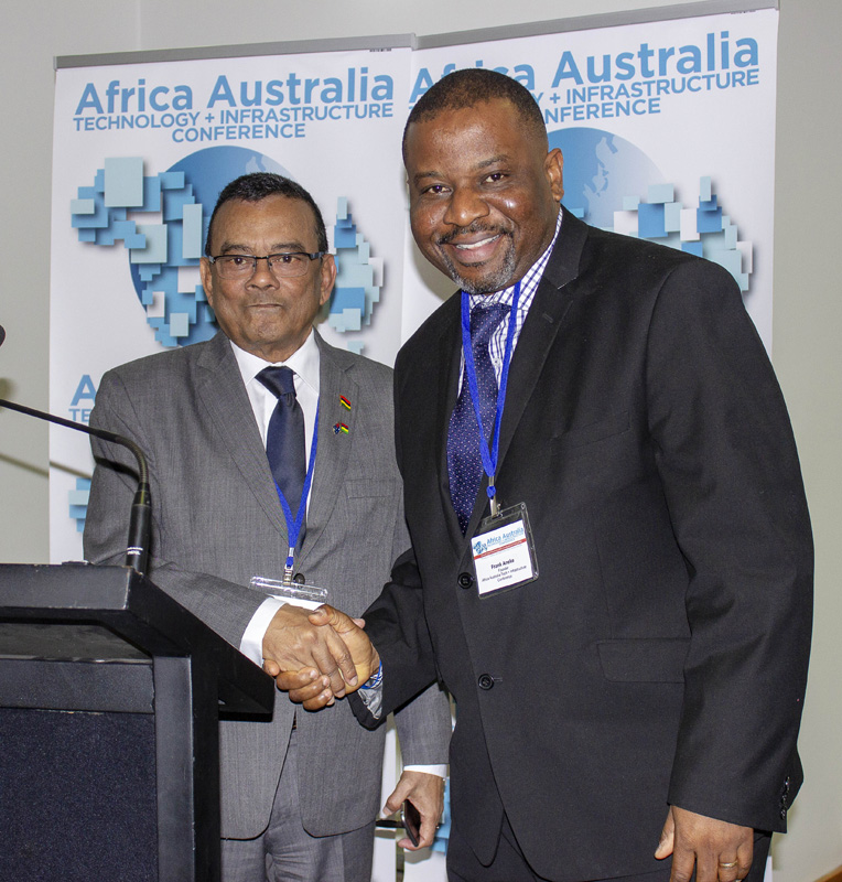 Deputy Prime Minister Of Mauritius, Ivan Collendavelloo And Frank Aneke