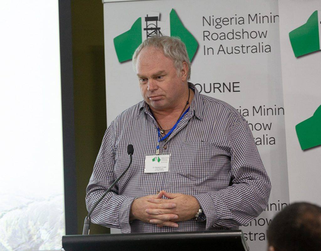 Dr Warwick Crowe: Chief Geologist, AG Vision Mining