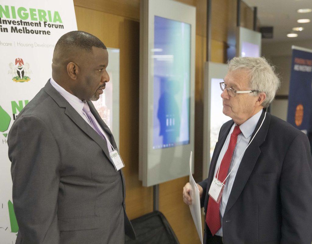 Frank Aneke And Mr Duncan Harris: President, Australia Africa Chamber Of Commerce